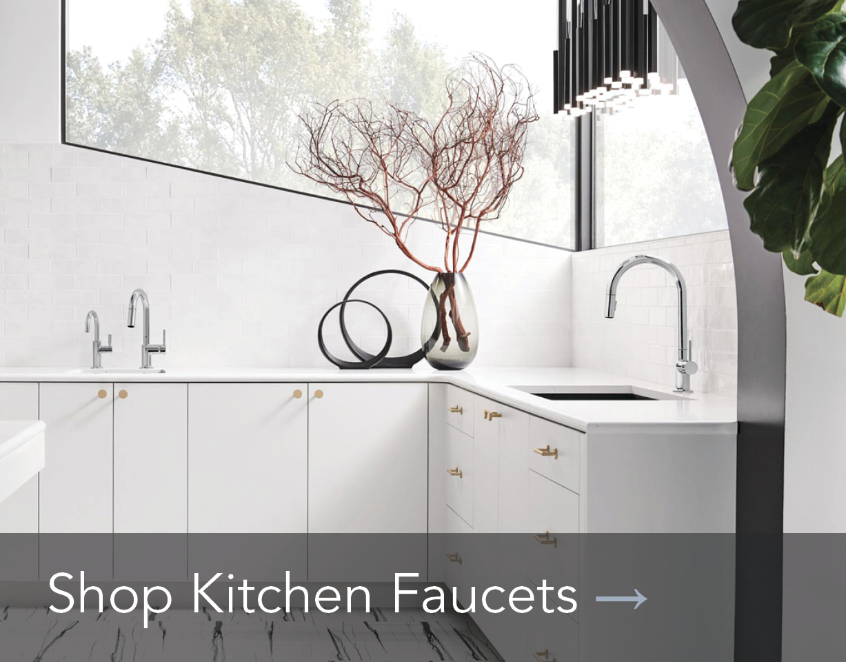 Shop modern chrome kitchen faucets