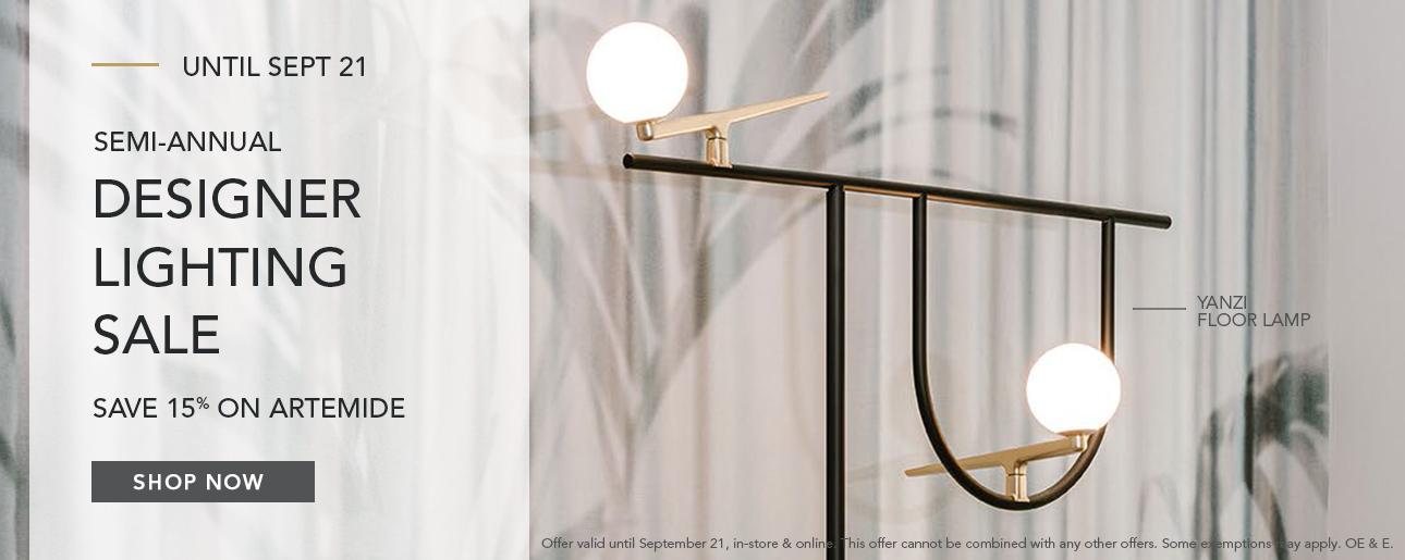 Shop ROBINSON's Designer Lighting Sale | Artemide