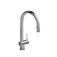 AZURE KITCHEN FAUCET WITH 2-JET BOOMERANG HAND SPRAY SYSTEM, Chrome, medium