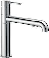 TRINSIC SINGLE HANDLE PULL OUT KITCHEN FAUCET, Chrome, medium