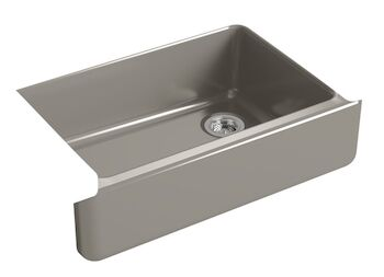 WHITEHAVEN® SELF-TRIMMING® 32-11/16 X 21-9/16 X 9-5/8 INCHES UNDER-MOUNT SINGLE-BOWL SINK WITH TALL APRON, Cashmere, large