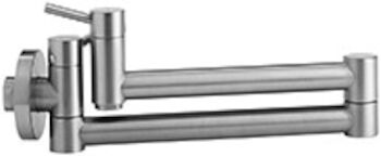 CANTATA II WALL MOUNTED POT FILLER, Stainless Steel, large