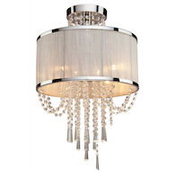 VALENZIA 4-LIGHT SEMI-FLUSH, Chrome, medium