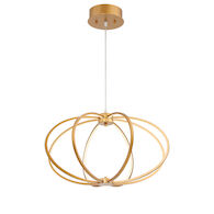 LEGGERO 8-LIGHT LED PENDANT, Gold, medium