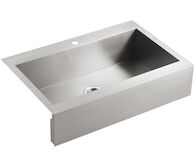 VAULT™ 35-3/4 X 24-5/16 X 9-5/16 INCHES SELF-TRIMMING® TOP-MOUNT SINGLE-BOWL STAINLESS STEEL APRON-FRONT KITCHEN SINK FOR 36 CABINET, Stainless Steel, medium