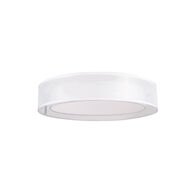 COVINA ROUND 3000K LED FLUSH MOUNT LIGHT, White, medium