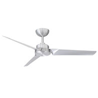 ROBOTO 52-INCH 3000K LED CEILING FAN, Brushed Aluminum, medium