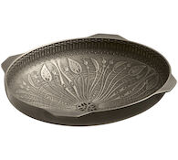 LILIES LORE® CAST BRONZE UNDERMOUNT BATHROOM SINK, Medium Patina, medium