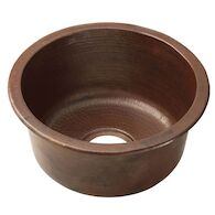 REDONDO GRANDE 17.75-INCH ROUND BAR & PREP SINK, Antique Copper, medium