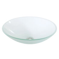 OVAL TEMPERED GLASS SINK, GF132, Frosted Glass, medium