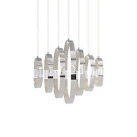 GLADE 28-INCH 4000K LED LINEAR CHANDELIER, 28559, Chrome, medium