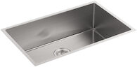 STRIVE® 29 X 18-5/16 X 9-5/16 INCHES UNDER-MOUNT MEDIUM SINGLE BOWL KITCHEN SINK WITH SINK RACK, Stainless Steel, medium
