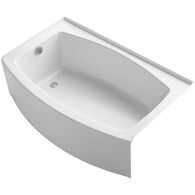EXPANSE® 60 X 32-38 INCHES CURVED ALCOVE BATHTUB WITH INTEGRAL FLANGE, LEFT-HAND DRAIN, White, medium