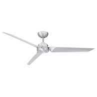 ROBOTO 62-INCH 3000K LED CEILING FAN, Brushed Aluminum, medium