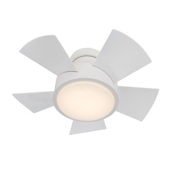 VOX 26-INCH 3000K LED FLUSH MOUNT CEILING FAN, Matte White, large