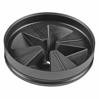 ANTIMICROBIAL QUIET COLLAR SINK BAFFLE (EVOLUTION SERIES), Black, large