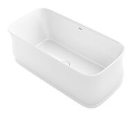 IMPERATOR™ 66 X 31 INCHES FREESTANDING BATHTUB WITH CENTER TOE-TRAP DRAIN, White, medium
