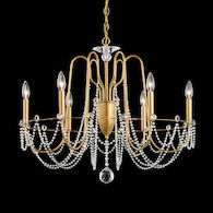 ESMERY DRAPED CHANDELIER, AR1006, White, medium