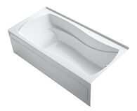 MARIPOSA® 72 X 36 INCHES ALCOVE BATHTUB WITH INTEGRAL APRON AND INTEGRAL FLANGE AND RIGHT-HAND DRAIN, White, medium