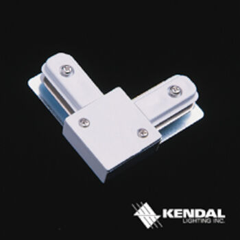 90° TRACK CONNECTOR, TA003, White, large