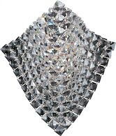 WAVE 1-LIGHT WALL SCONCE, Polished Chrome, medium