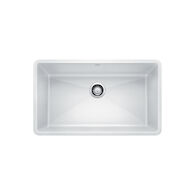 PRECIS UNDERMOUNT SUPER SINGLE KITCHEN SINK, White, medium