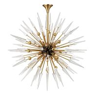 SPARTA 18-LIGHT CHANDELIER, 9048, Aged Brass, medium