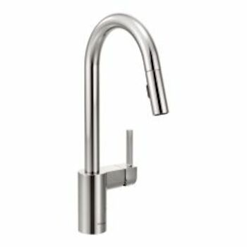 ALIGN ONE-HANDLE HIGH ARC PULL DOWN KITCHEN FAUCET, Chrome, large