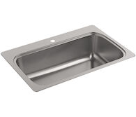 VERSE™ 33 X 22 X 9-5/16 INCHES TOP-MOUNT SINGLE-BOWL KITCHEN SINK, Stainless Steel, medium