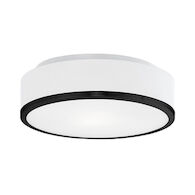 CHARLIE LED FLUSH MOUNT, Black, medium