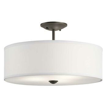 SHAILENE 3-LIGHT SEMI-FLUSH CEILING LIGHT, Olde Bronze, large