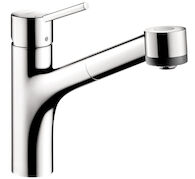 TALIS S 2-SPRAY KITCHEN FAUCET, PULL-OUT, Chrome, medium