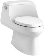 SAN RAPHAEL® SKIRTED ONE-PIECE ELONGATED 1.28 GPF TOILET WITH LEFT-HAND TRIP LEVER, White, medium