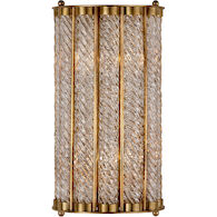 AERIN EATON 2-LIGHT 8-INCH WALL SCONCE LIGHT, Hand-Rubbed Antique Brass, medium