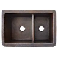 COCINA DUET DOUBLE BOWL UNDERMOUNT KITCHEN SINK, Antique Copper, medium