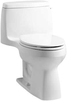 SANTA ROSA™ COMFORT HEIGHT® ONE-PIECE COMPACT ELONGATED 1.28 GPF TOILET WITH AQUAPISTON® FLUSH TECHNOLOGY AND RIGHT-HAND TRIP LEVER, White, large