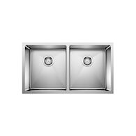 QUATRUS R15 UNDERMOUNT DOUBLE BOWL SINK, Stainless Steel, medium