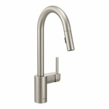 ALIGN ONE-HANDLE HIGH ARC PULL DOWN KITCHEN FAUCET, Spot Resist Stainless, large