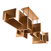 AMARI LED CHANDELIER, Aged Brass, medium