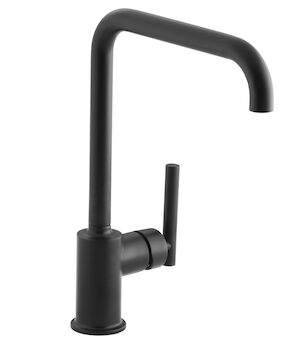 PURIST® SINGLE-HOLE KITCHEN SINK FAUCET WITH 8-INCH SPOUT, Matte Black, large
