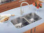 ESSENTIAL UNDERMOUNT DOUBLE KITCHEN SINK, Stainless Steel, small