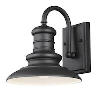 REDDING STATION 1-LIGHT OUTDOOR SCONCE, Textured Black, medium