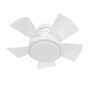 VOX 26-INCH 3000K LED FLUSH MOUNT CEILING FAN, Matte White, small