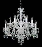 STERLING 12-LIGHT CHANDELIER, Aurelia, medium
