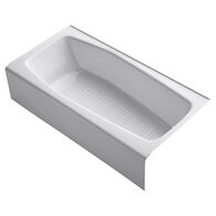 VILLAGER® 60 X 30 INCHES ALCOVE BATHTUB WITH INTEGRAL APRON AND RIGHT-HAND DRAIN, White, medium