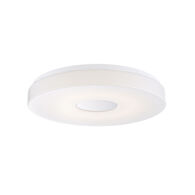CIRCO 15-INCH 1-LIGHT 3000K LED FLUSH MOUNT LIGHT, 30130-30, White, medium