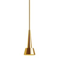 ROCKET 12-INCH 2700K LED PENDANT, Brushed Brass, medium