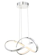 VORNADO 20-INCH LED PENDANT CHANDELIER 3000K, Chrome, medium