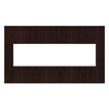 ADORNE 4-GANG REAL MATERIAL WALL PLATE, Wenge Wood, large