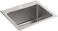 BALLAD™ 25 X 22 X 11-9/16 INCHES TOP-MOUNT UTILITY SINK WITH SINGLE FAUCET HOLE, Stainless Steel, medium